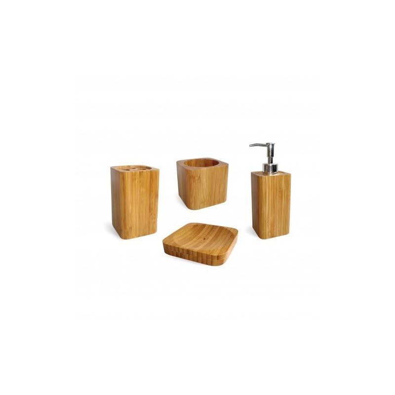 Set De Baño Bambu Dupree:Baño > Accesorios > Jaboneras > Set BAMBÚ 4 piezas