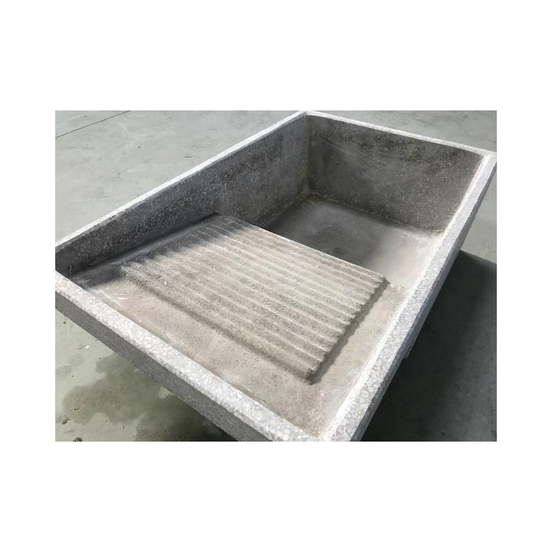 Pila lavadero hormig n cl sica 81x52cm for Lavadero empotrado