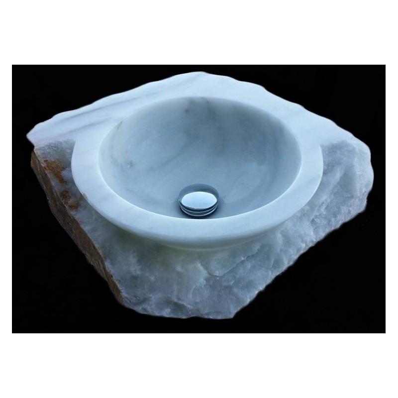 Lavabo m rmol blanco bl01 for Lavabo marmol